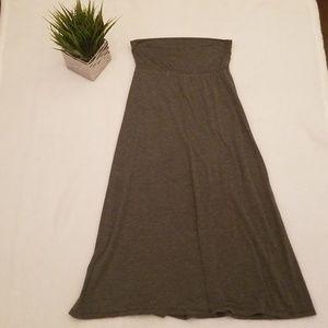 Xhilaration MD Black and Grey Stripped Maxi Skirt